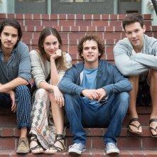 L'estate addosso: Joseph Haro, Matilda Anna Ingrid Lutz, Brando Pacitto e Taylor Frey in un'immagine promozionale del film