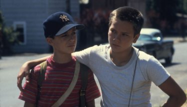 Wil Wheaton e River Phoenix in Stand By Me