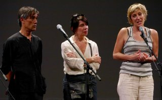 A Young Girl in Her Nineties: Valeria Bruni Tedeschi e Thierry Thieû Niang durante la proiezione ufficiale a Locarno