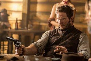 I magnifici 7: Chris Pratt in una scena del film