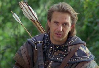 Kevin Costner in Robin Hood, il principe dei ladri