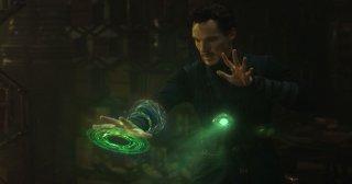 Doctor Strange: Benedict Cumberbatch in una foto del film Marvel