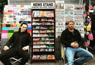 Thor: Ragnarok Chris Hemsworth e Tom Hiddleston sul set
