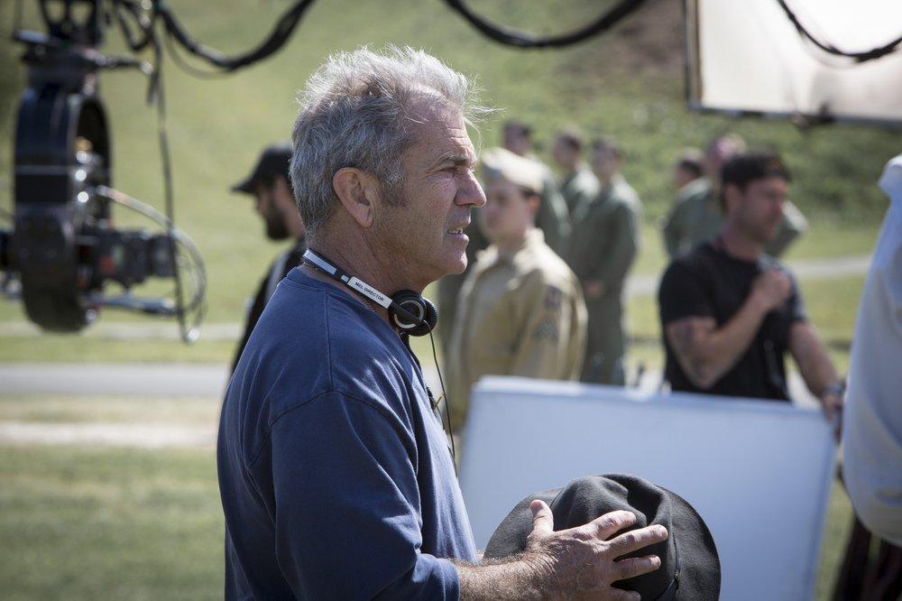 Hacksaw Ridge: Mel Gibson sul set del film