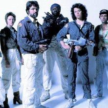 Alien: un'immagine promozionale con il cast principale del film