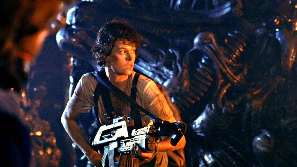 Aliens - Scontro finale: Sigourney Weaver in un momento del film