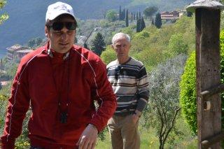 Bozzetto non troppo: Bruno Bozzetto e il regista Marco Bonfanti sul set del documentario