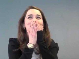 Il trono di spade: Emilia Clarke durante l'audizione