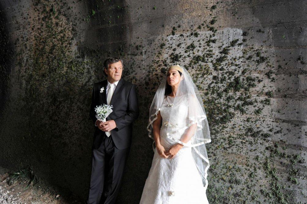 Sulla Via Lattea: Monica Bellucci ed Emir Kusturica in una scena del film