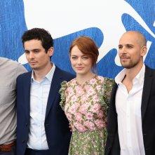 Venezia 2016: Emma Stone Damien Chazelle e i produttori al Photocall di La La Land