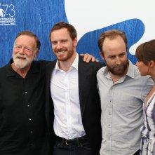 Venezia 2016: Alicia Vikander, Michel Fassbender, Jack Thompson e Derek Cianfrance al photocall di The Light Between Oceans