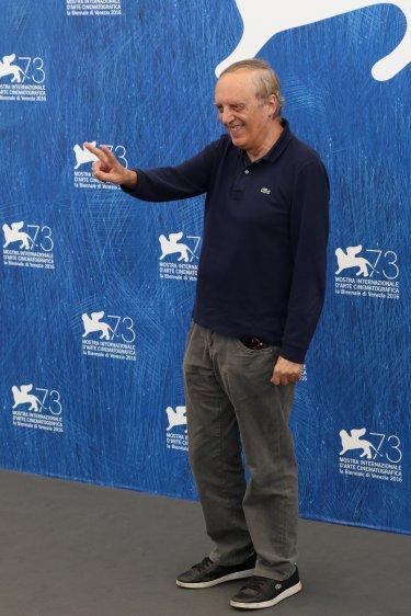 Venezia 2016: Dario Argento in posa al photocall di Dawn of the Dead - European Cut (Zombi)