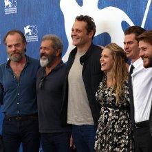 Venezia 2016: Mel Gibson, Andrew Garfield, Vince Vaughn, Hugo Weaving, Luke Bracey al photocall di Hacksaw Ridge
