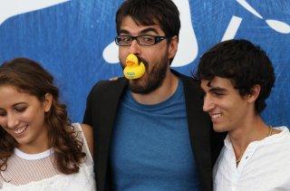 Venezia 2016: Roan Johnson, Blu Yoshimi, Luigi Fedele al photocall di Piuma
