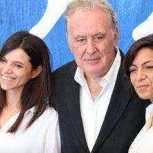 Venezia 2016: Michele Santoro, Maddalena Oliva e Micaela Farrocco al photocall di Robinù
