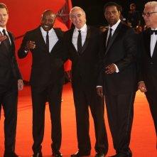 Venezia 2016: Antoine Fuqua, Denzel Washington, Chris Pratt sul red carpet de I magnigici 7