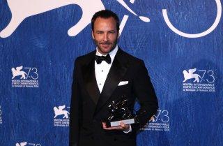 Venezia 2016: uno scatto di Tom Ford al photocall dei premiati