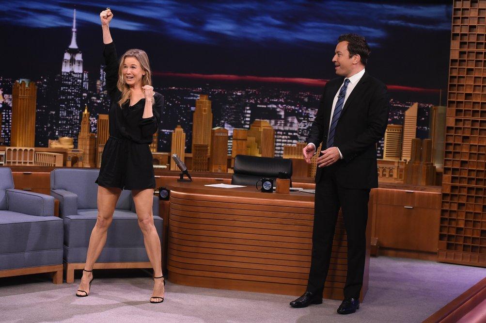 Renée Zellweger con Jimmy Fallon