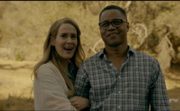 American Horror Story: Sarah Paulson e Cuba Gooding Jr. in una foto della première