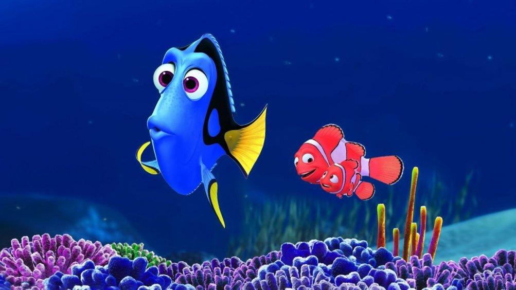 Una scena del cartoon Alla ricerca di Nemo