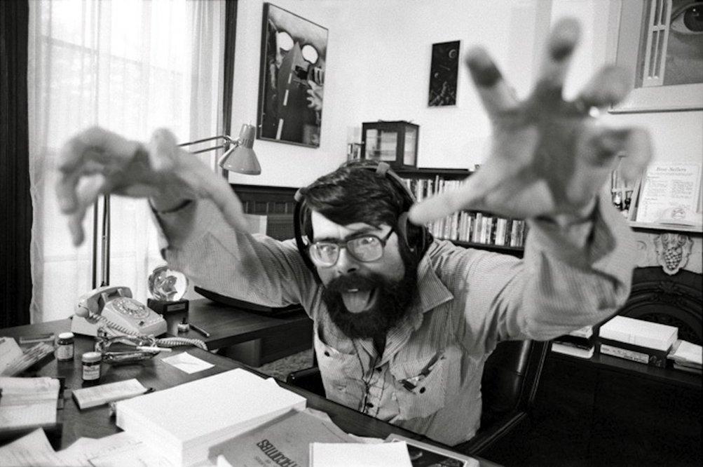 Una foto buffa di Stephen King