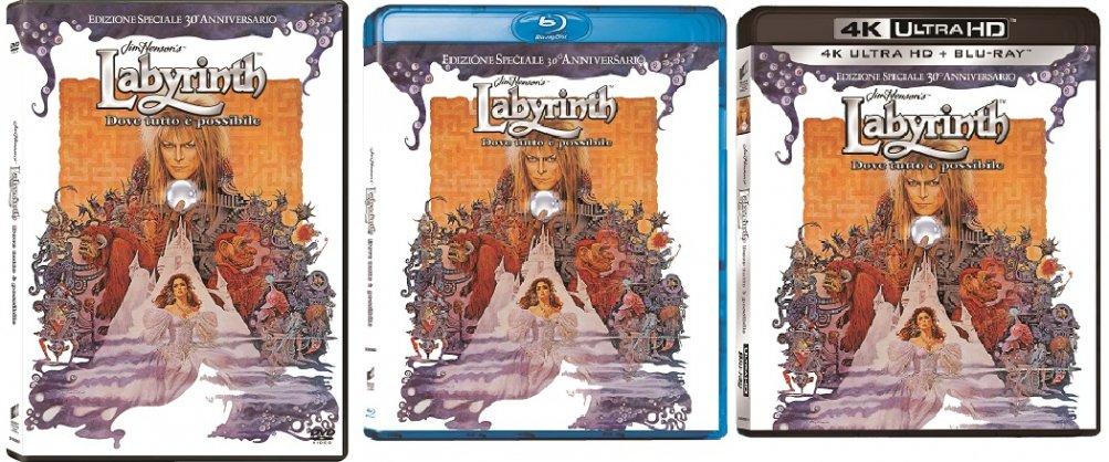le cover homevideo di Labyrinth