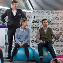 Bridget Jones's Baby: Patrick Dempsey, Colin Firth e Renée Zellweger in un'immagine tratta dal film