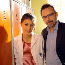 L'Allieva: Alessandra Mastronardi e Luca Ribuoli in una foto dal set