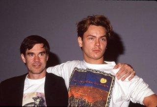 Una foto che ritrae River Phoenix e Gus Van Sant