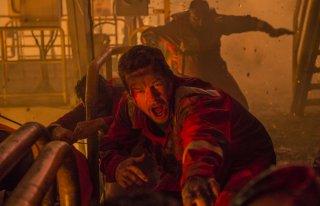 Deepwater Horizon: Mark Wahlberg in una concitata scena del film