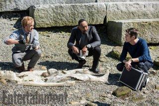 The Flash 3: Tom Felton a confronto con Grant Gustin e Jesse L. Martin in una scena