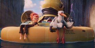 Cicogne in missione: una simpatica scena del film animato