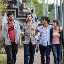 I babysitter: Andrea Pisani, Francesco Mandelli, Paolo Ruffini e Simona Tabasco in una scena del film