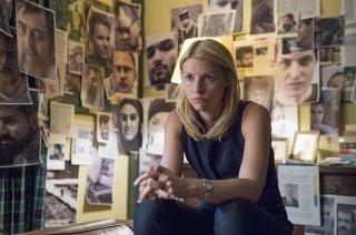 Homeland: un'immagine dell'attrice Claire Danes