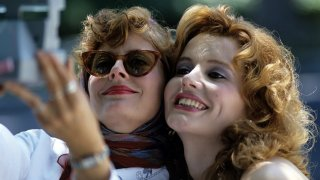 Thelma & Louise: Geena Davis e Susan Sarandon in una scena del film