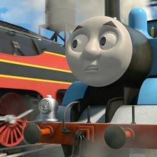 Il trenino Thomas - La grande corsa: un momento del film animato