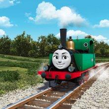 Il trenino Thomas - La grande corsa: un momento del film d'animazione