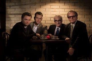The Departed - foto di gruppo per Scorsese, DiCaprio, Damon e Jack Nicholson