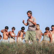 La guerra dei cafoni: un'immagine dal set del film