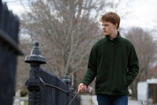 Manchester by the Sea: Lucas Hedges in una scena del film