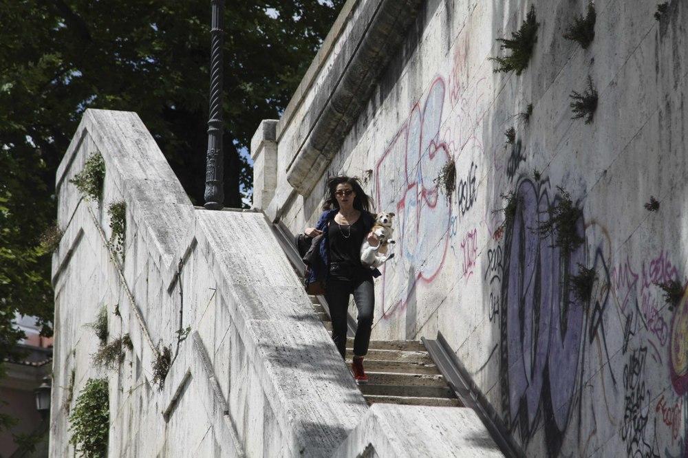 Maria per Roma: Karen Di Porto in una scena del film