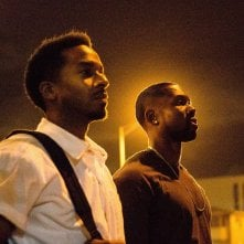 Moonlight: Trevante Rhodes e Andre Holland in una foto del film