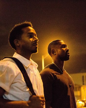 Moonlight: Trevante Rhodes e Andre Holland in una foto del film