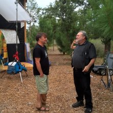 Richard Linklater: Dream is Destiny, il regista Louis Black e Linklater sul set del documentario