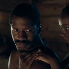 The Birth of a Nation: Nate Parker e Aja Naomi King in una scena del film