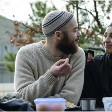 Layla M.: Nora El Koussour e Ilias Addab in una scena del film