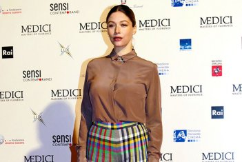 Medici: Masters of Florence, sarah Felberbaum alla premiere di Firenze