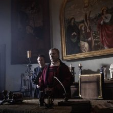 Medici, Masters of Florence: un'immagine dell'attore Dustin Hoffman
