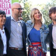 Roma 2016: Doug Sweetland, Alessia Marcuzzi, Vincenzo Salemme, Federico Russo al photocall di Cicogne in missione