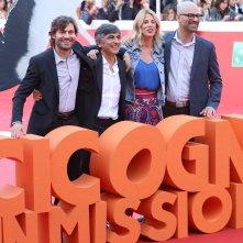 Roma 2016: Doug Sweetland, Alessia Marcuzzi. Vincenzo Salemme e Federico Russo sul red carpet di Cicogne in missione